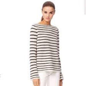 360 Cashmere Retro Stripe Boat Neck Sweater  XS